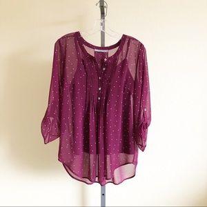 Daniel Rainn, Bilson Pleat Detail blouse, size PM